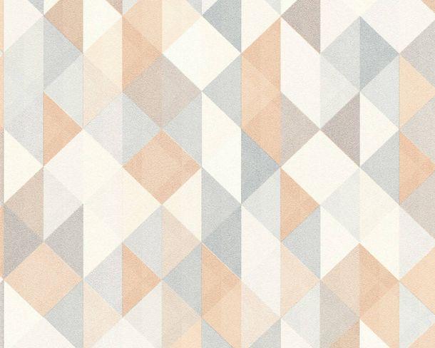 Non-Woven Wallpaper triangle silver copper 36786-2