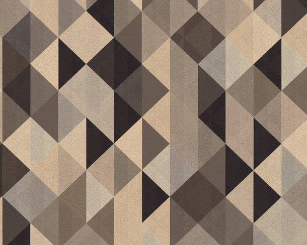 Non-Woven Wallpaper triangle black silver gloss 36786-4 online kaufen