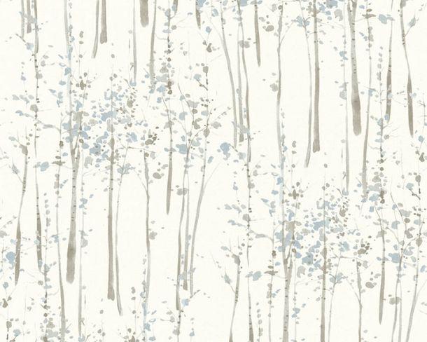 Vliestapeten Bäume Aquarell weiß blau 95786-1 online kaufen