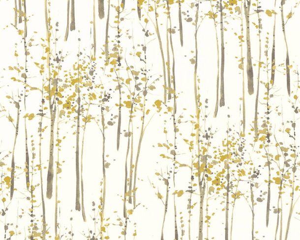 4,12€//1qm Vliestapeten Uni-Design Textil-Optik gelb Scandinavian II 35985-1