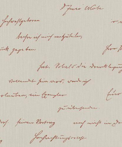 Wallpaper BARBARA Home Lettering beige red 522181