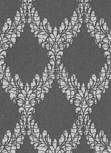 Vliestapete Barock Ornament schwarz silber Glanz 5812-47