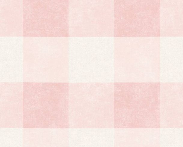 Non-Woven Wallpaper Checked pink 36715-2 online kaufen