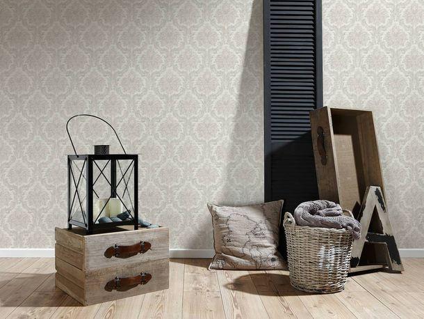 Vliestapete Barock Vintage hellgrau grau 36716-1 online kaufen