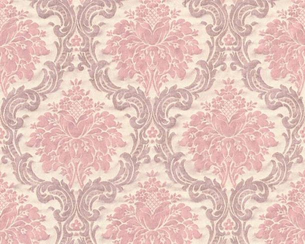 Non-Woven Wallpaper Baroque Vintage cream pink 36716-2