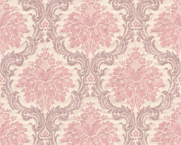 Vliestapete Barock Vintage creme rosa 36716-2