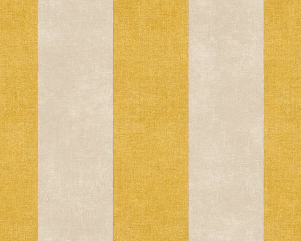 Non-Woven Wallpaper Block Stripes yellow beige 36718-2 online kaufen