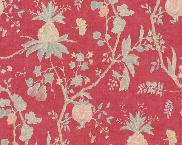 Non-Woven Wallpaper Tree Vintage red green 36719-6 online kaufen