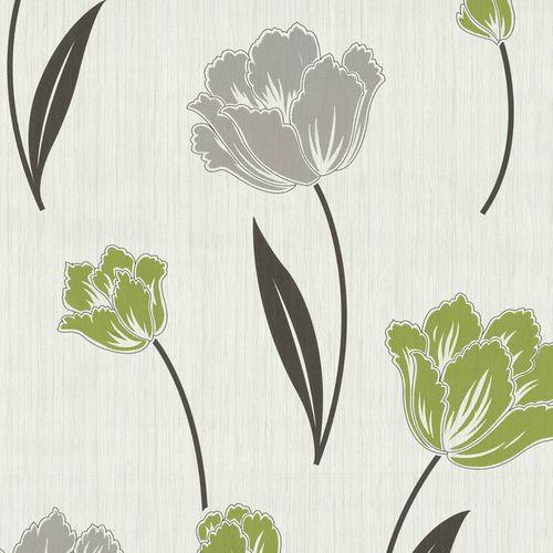 Vliestapete Blumen Floral creme schwarz grün P+S 42071-20 online kaufen