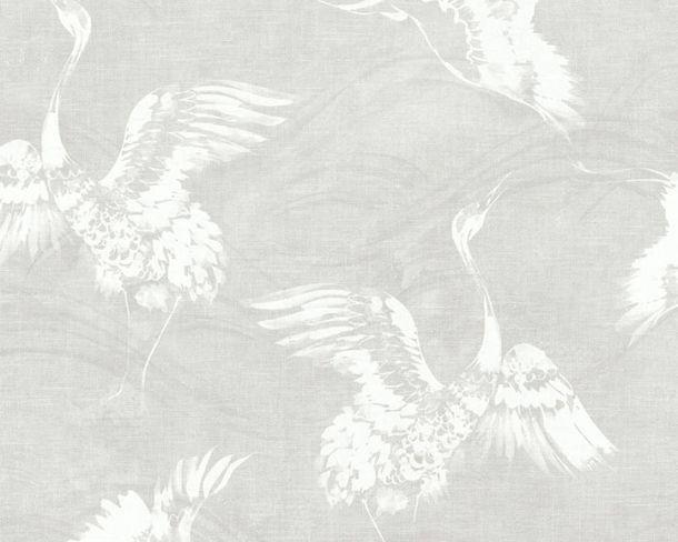 Non-woven Wallpaper Crane white Linen Style 36631-1 online kaufen