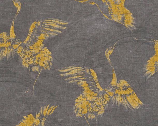 Non-woven Wallpaper Crane yellow Linen Style 36631-3 online kaufen
