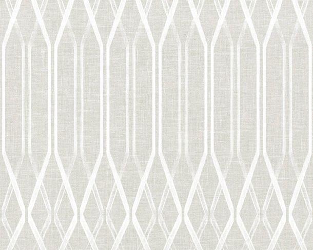 Vliestapete Rauten Retro hellgrau Linen Style 36632-1 online kaufen