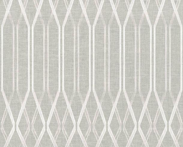 Vliestapete Rauten Retro grau weiß Linen Style 36632-2 online kaufen