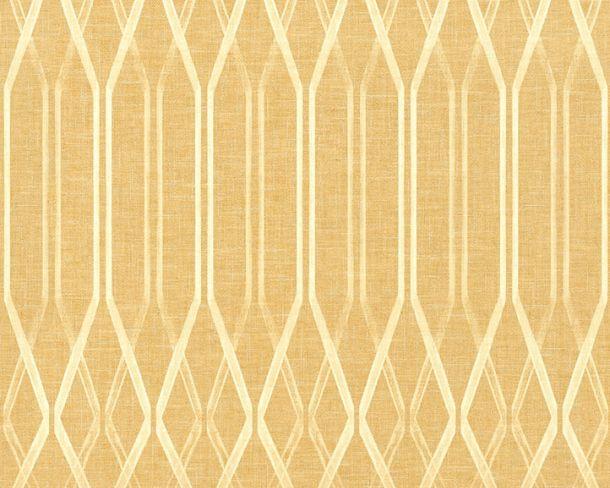 Non-woven Wallpaper Rhombus yellow Linen Style 36632-3 online kaufen