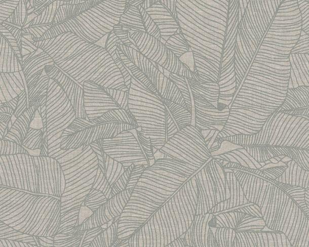 Vliestapete Blätter Tropisch grau Linen Style 36633-2 online kaufen