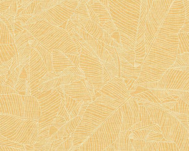 Vliestapete Blätter Tropisch gelb Linen Style 36633-3 online kaufen
