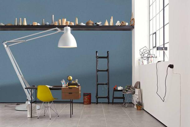 Non-woven Wallpaper Linen blue Linen Style 36634-8 online kaufen