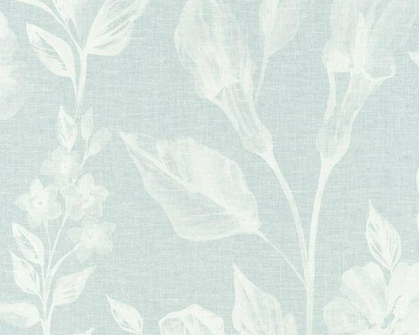 Vliestapete Blumen Leinen türkis Linen Style 36636-2 online kaufen