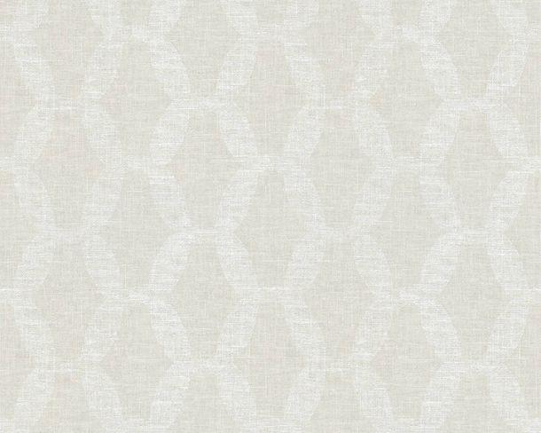 Vliestapete Kettenmuster Leinen weiß Linen Style 36638-2 online kaufen