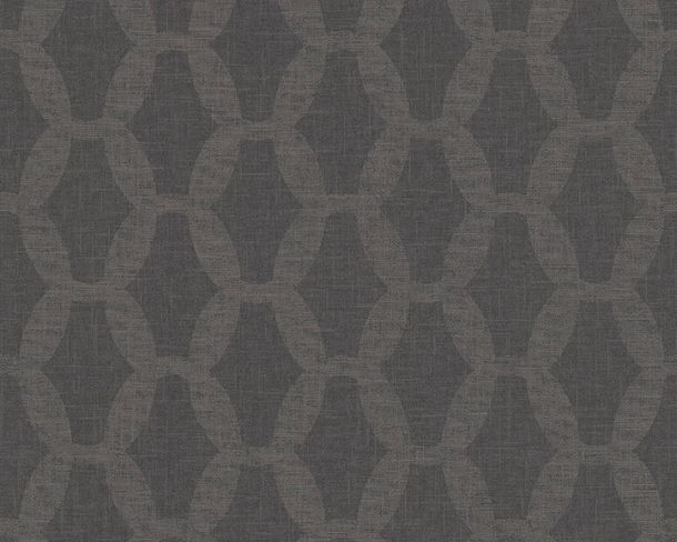 Non-woven Wallpaper Chains grey Linen Style 36638-4 online kaufen