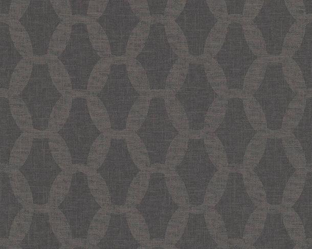Vliestapete Kettenmuster Leinen grau Linen Style 36638-4 online kaufen