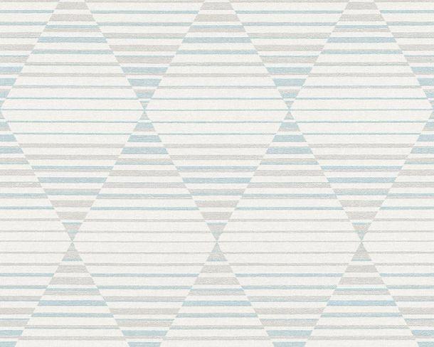 Vliestapete Rauten Streifen 3D grau Linen Style 36757-2 online kaufen