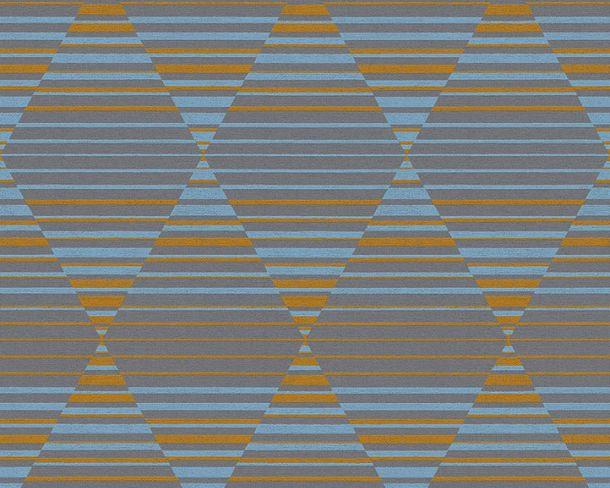 Non-woven Wallpaper Rhombus 3D orange Linen Style 36757-3 online kaufen
