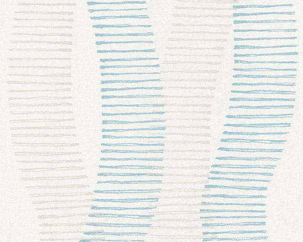 Non-woven Wallpaper Waves white Linen Style 36758-1 online kaufen