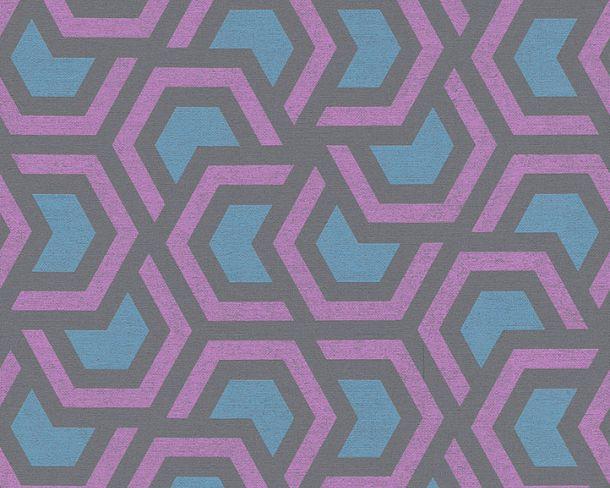 Vliestapete Grafik Waben anthrazit Linen Style 36760-1 online kaufen