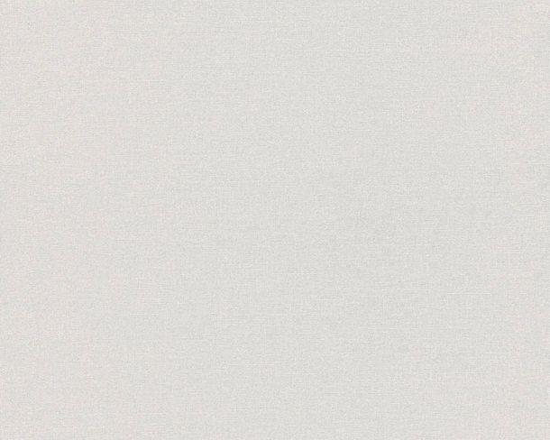 Non-woven Wallpaper Plain white grey Linen Style 36761-7