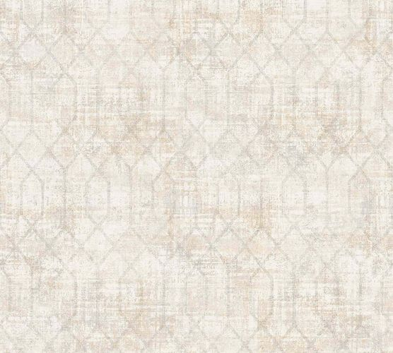 Non-Woven Wallpaper Vintage Graphic beige 36771-1