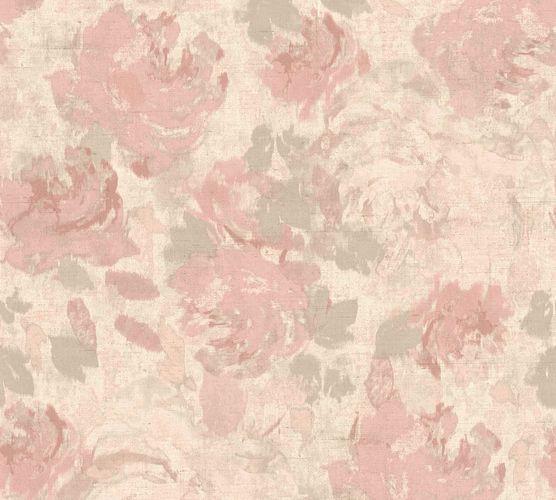 Non-Woven Wallpaper Flowers Floral pink beige 36772-4 online kaufen