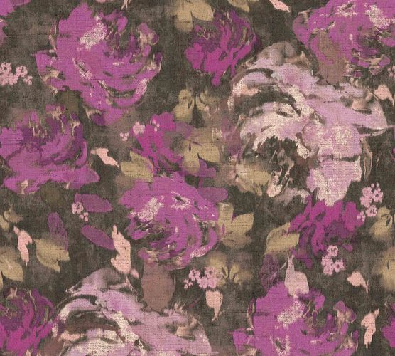 Non-Woven Wallpaper Flowers Floral anthracite 36772-5 online kaufen