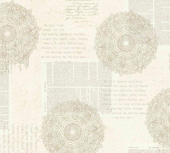 Non-Woven Wallpaper Mandala Vintage beige 36775-1