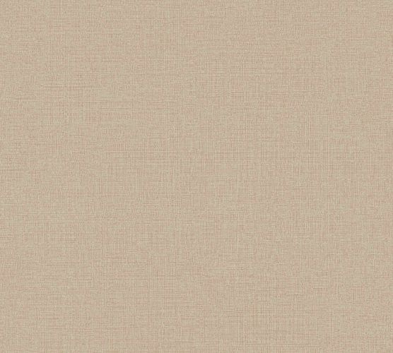 Non-Woven Wallpaper Plain Linen beige brown 36776-7