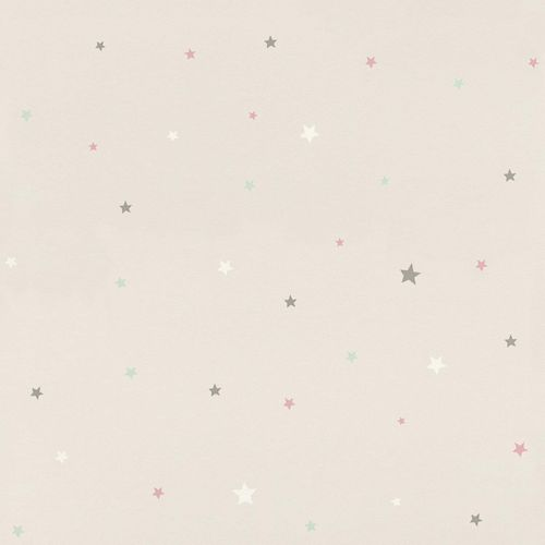 Kids Wallpaper stars pattern light grey pink Rasch 245257 online kaufen