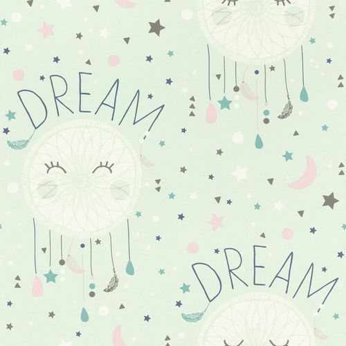 Kids Wallpaper dreamcatcher Dream stars mint Rasch 248760 online kaufen