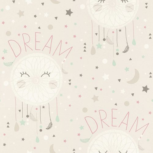 Kids Wallpaper dreamcatcher Dream stars grey Rasch 248777