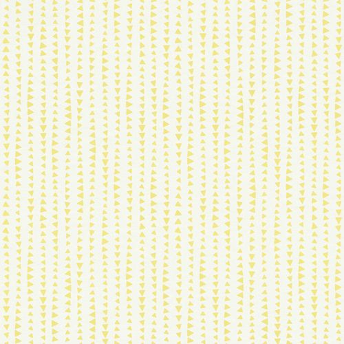Kids Wallpaper triangle stripes white yellow Rasch 249156