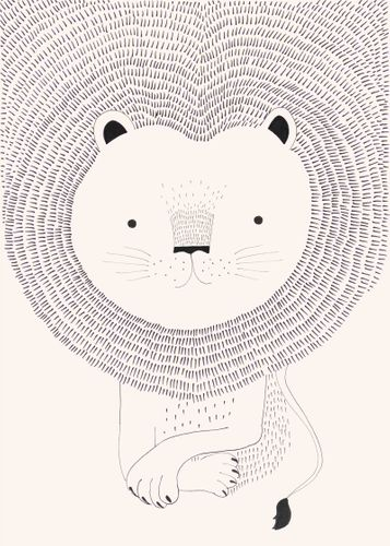 Kids Mural Wallpaper lion rose black Rasch 842272 online kaufen