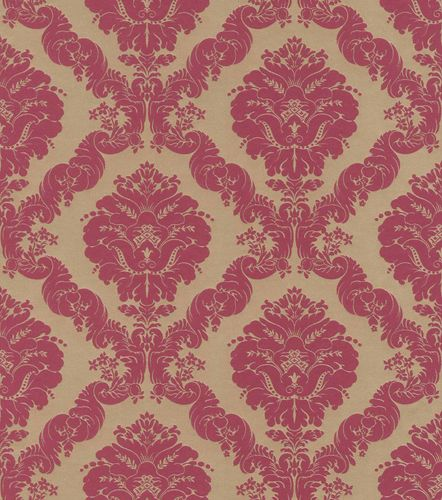 Satin Wallpaper Rasch Baroque gold red Gloss 532241 online kaufen