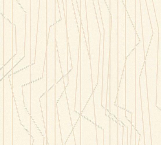 Non-Woven Wallpaper Lines cream beige Gloss 36878-1 online kaufen