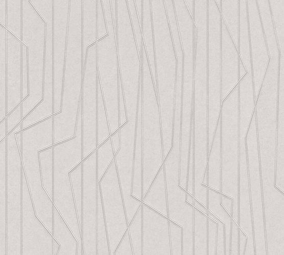 Vliestapete Linien Grafik hellgrau Glanz 36878-2 online kaufen