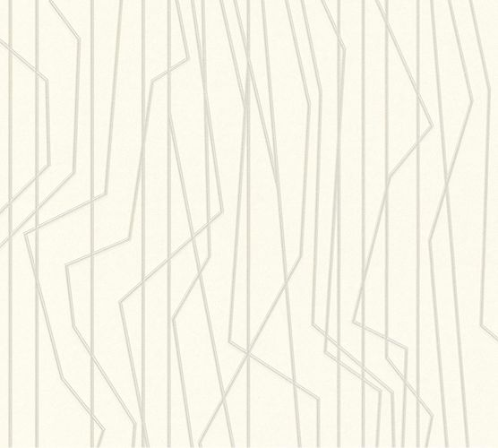 Non-Woven Wallpaper Lines cream silver Gloss 36878-3 online kaufen
