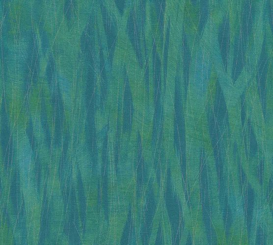 Non-Woven Wallpaper Stripes Waves green blue 36884-1 online kaufen