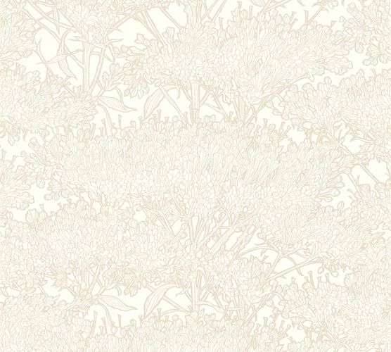 Non-Woven Wallpaper Floral Tree cream white taupe Gloss 36972-7 online kaufen