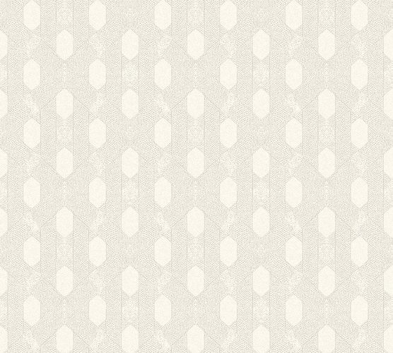 Non-Woven Wallpaper Graphic Rhombus white taupe Metallic 36973-3 online kaufen