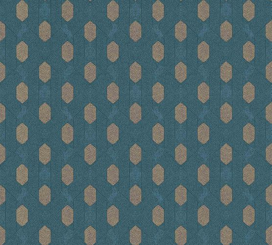 Non-Woven Wallpaper Graphic Rhombus dark blue brown 36973-4