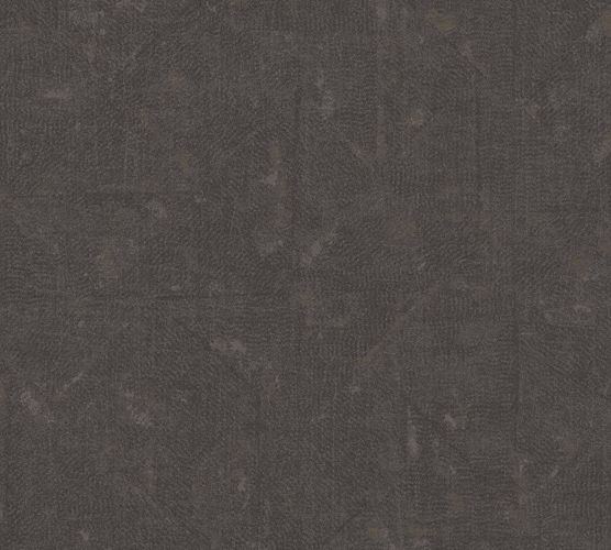 Non-Woven Wallpaper Rhombus Vintage dark brown black 36974-2 online kaufen