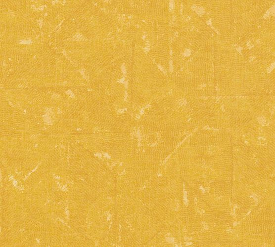 Non-Woven Wallpaper Rhombus Vintage yellow orange 36974-4